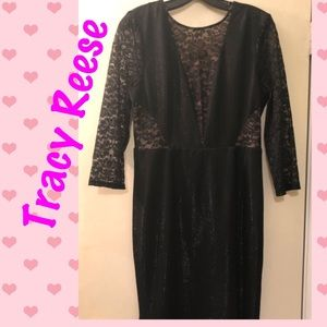 Tracy Reese Black Lace Sheath dress NWT